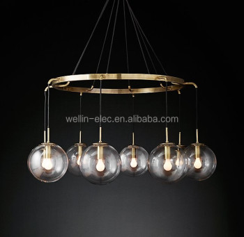 UL Approval New Glass Pendant Lamp, Clear/Frosted Glass Hanging Light for Kitchen