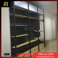 Single Side Mdf Retail Clothing Display Rack And Mdf Clothing Shop Display Table