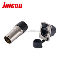 rj45 metal shell male connector panel mounted female connector with 90 degree
