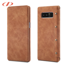 Crazy horse leather case for samsung note8 wallet leather case for samsung galaxy note8