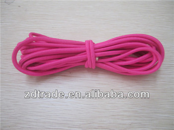Polyester latex round bungee cord
