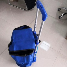 light weight luggage hand cart with bule shopping bag