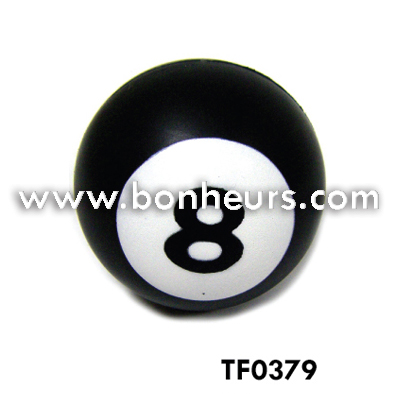 New Novelty Toy Billiard Number Viii Black Pu Foam No 8 Ball