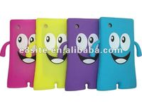 Smile Face Robot Silicone Cover Case For BlackBerry 8520 Curve
