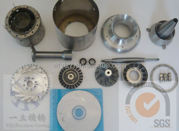 high quality stainless steel turbojet parts used for rc jet turbine engine for sale