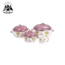 Traditional kitchenware porcelain enamel cookware