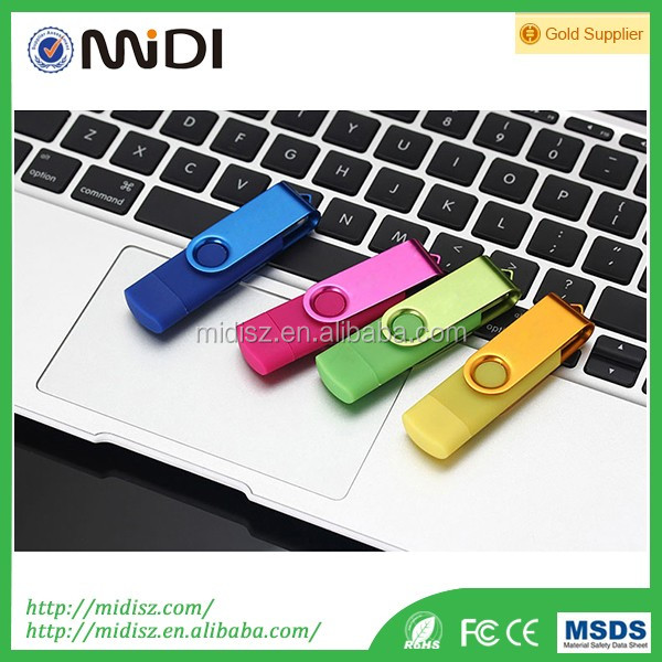 bulk cheap otg usb flash memory 16gb /multifunctional USB Flash Drive for smartphone