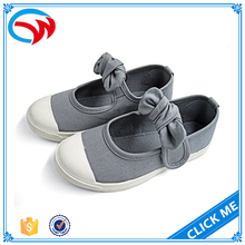 High Quality Kids Shoes Bow Tie Girls Buckle Shoes Kids Canvas Shoes