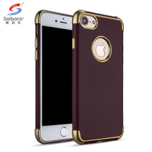 Three-stage laser carving Electroplate TPU cell phone case cover for apple iphone 5 6 7 8 10 X
