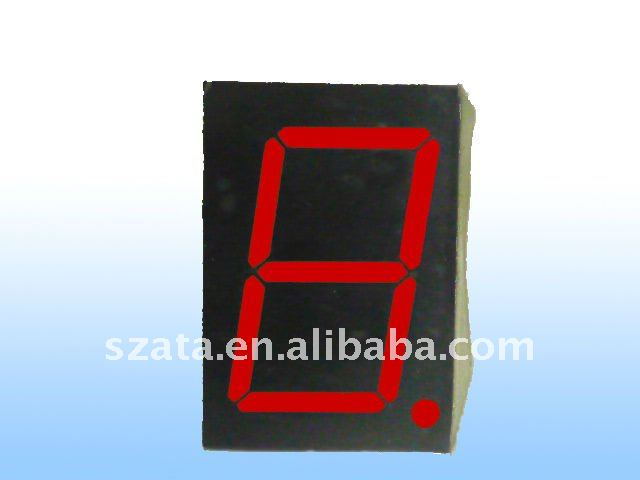 Red Color 0.6 inch 7 segment LED display module-single digit