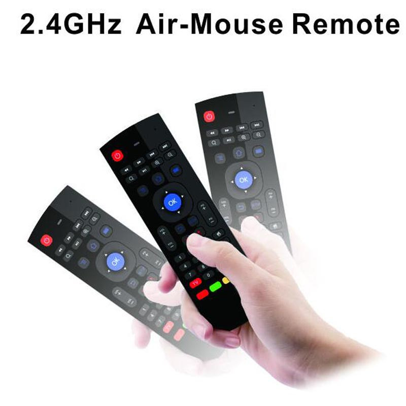 T3 2.4GHz Fly Air Mouse with Microphone T3-M Mini Keyboard Qwerty Wireless Remote Controller VS MX3 6-Axis Gyroscope Gamepad