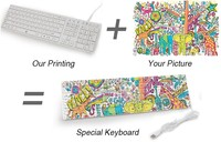 Good looking wholesale customize printed keyboard and mouse