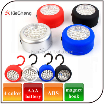 24 Led Magnetical 3pc AAA Battery Led Working Light with Hook