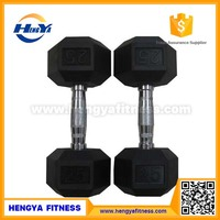 BodyBuilding Fitness Discount Wholesale Rubber Hex Dumbbell