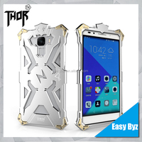 Smart phone shockproof aluminum metal protective back cover case for huawei honor 7