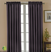 100% Polyester Fire Proof Blackout Drapes Curtains