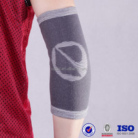 nylon spandex high quality Custom grey elasticity breathable bamboo charcoal cotton sports protective volleyball arm sleeves