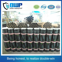 New types roof materials 4mm asphalt PE film SBS/APP waterproof membrane