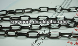 decorative oval link chain for jewelry making or bag accessories clothes decorative necklaces
