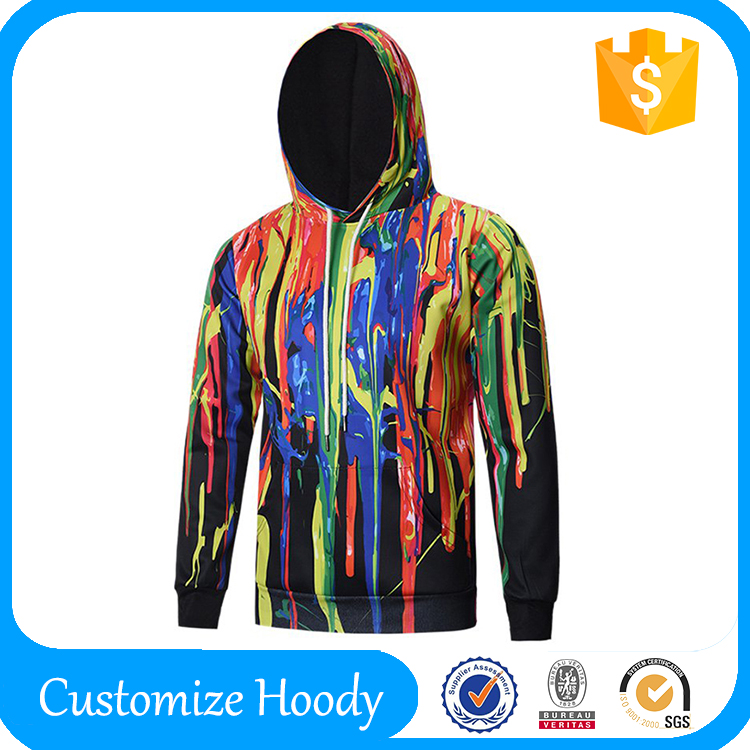 2016 Winter Men's Hoodies Men Printed Hip Hop Sweatshirts Man Fleece Hoody Pullover Sportswear Clothing