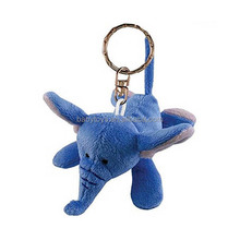 Nice design Stuffed keychain toy, plush elephant keychain, plush toy animal keychain key chain key ring