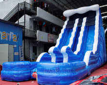 Wave Inflatable Double Lane Water Slide
