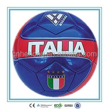 2015 Hot Selling Metallic PVC Italia Country Flag Machine Stitched <strong>Football</strong>