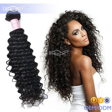 No Tangle No Shed Dyeable 100 virgin pure remy Peruvian curly weave hair