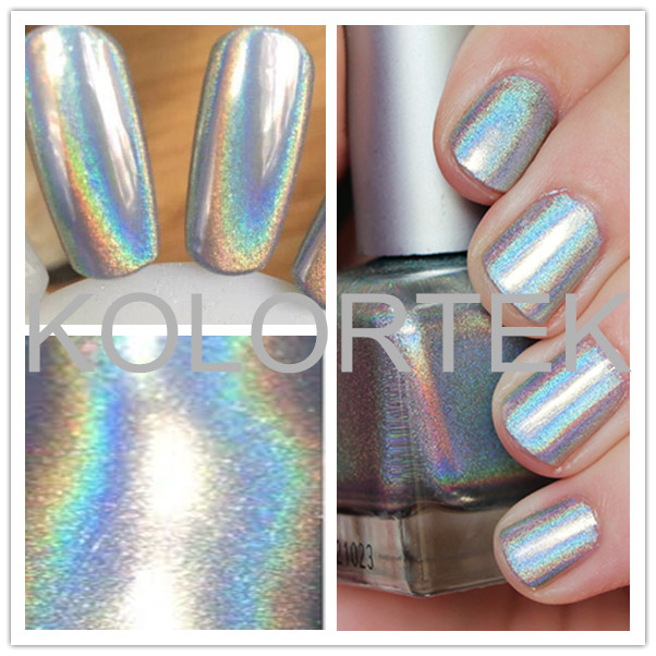 Hot sale silver holographic pigment nail art glitter for beauty makeup