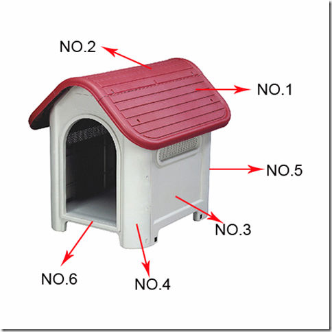 plastik pet house