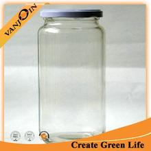 White Clear Glass Bottles Bulk Milk Container With Lids