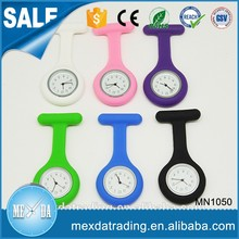 Wholesale different colors custom dial Fob silicone nurse watch