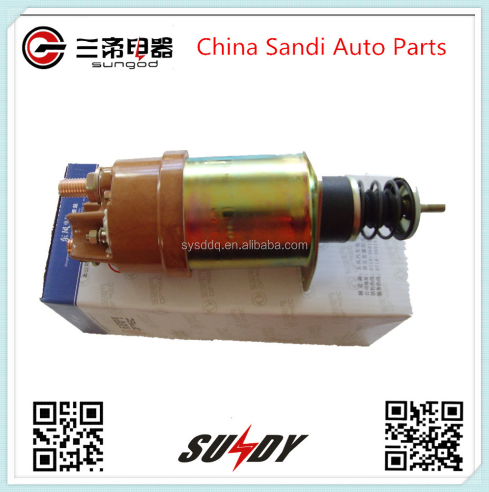 24V Starting Motor Solenoid Switch QD2816-600G for Shiyan Dongfeng trucks
