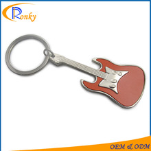 Innovative corporate gifts guitar shaped personalized cute key chains