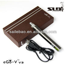 electronic cigarette wholesale 1300mAh /1100mAh adjustable voltage e-cigarette ego v v3 upgrade item eGo v3 e-cigarette battery