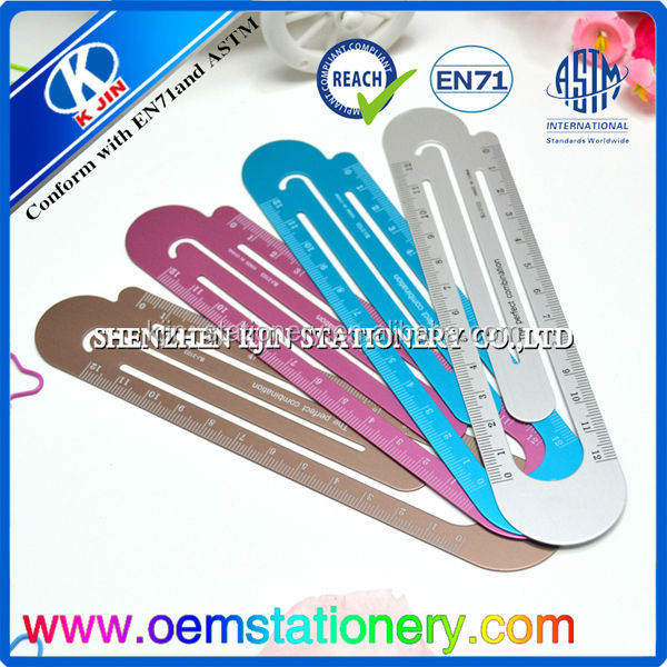 Hot Sale 15/20/30/50/60/100cm Metal/Stainless Steel Ruler/aluminum scale ruler