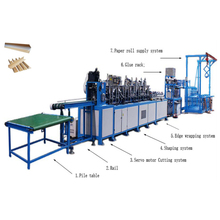 High Density V shape angle board making paper edge protector production line With Bottom Price