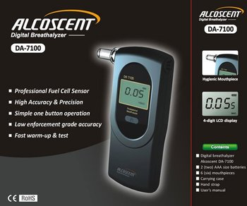 ALCOSCENT DA-7100 Digital Breathalyzer