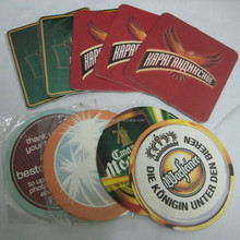 custom absorbent paper coffee coasters, beer coasters