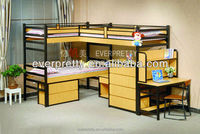 Amazing Commercial School Dormitory Furniture Bunk Beds, Wood And Steel Bunk Bed, Bunk Beds With Wardrobe