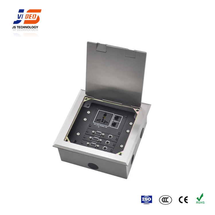 JS-DC180 With Universal Power Outlets Electrical Floor Socket Connection Box