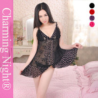 8618 Factory supplies nude dress girls sexy night black lingerie models