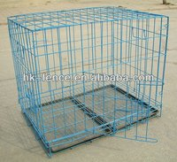 "Hot Sale 48"" Folding Dog Crate Cage Kennel With ABS Tray"