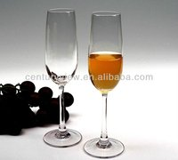 lead free crystal tall glass champagne