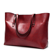 New stye women handbag Wax pu leather tote bag wholesale
