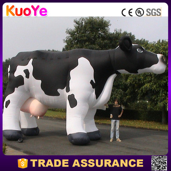 wholesale advertising inflatable dairy cow for display