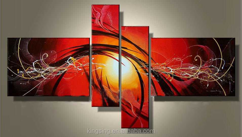 Handpainted Canvas Painting Abstract Oil Painting For Living Painting With Frames HK-GP 538