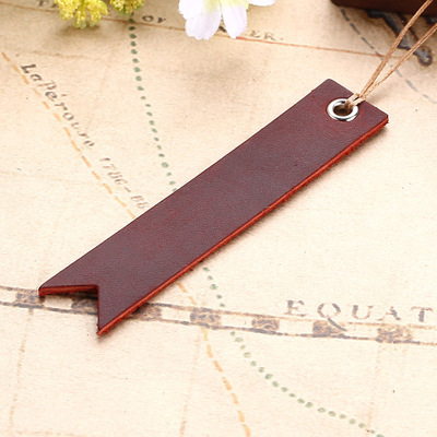 Creative cute leather bookmark promotion gift on sale