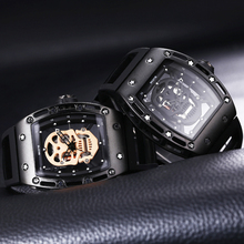 Skone high quality watch skull relojes hombre men watch