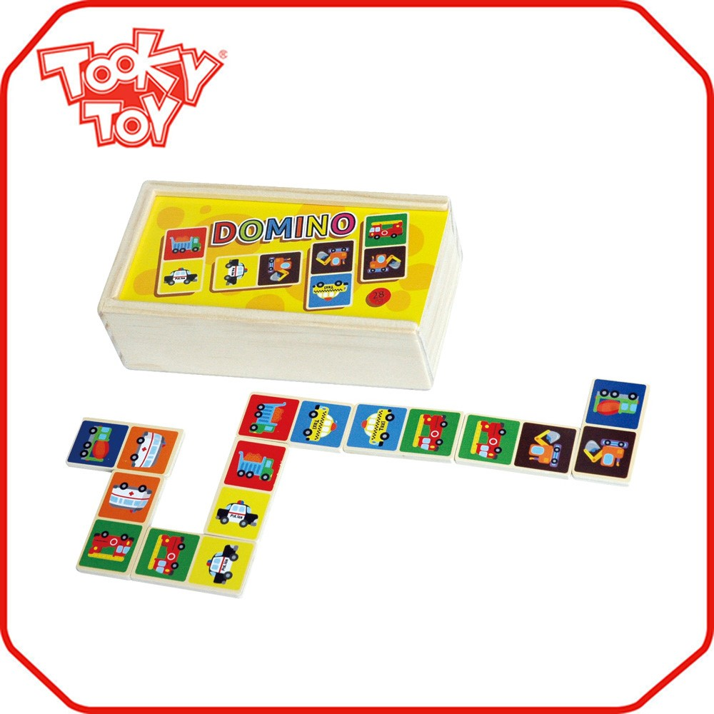 Custom for Sale Popular Dominoes Set in Colorful Wooden Box Toys Wholesale